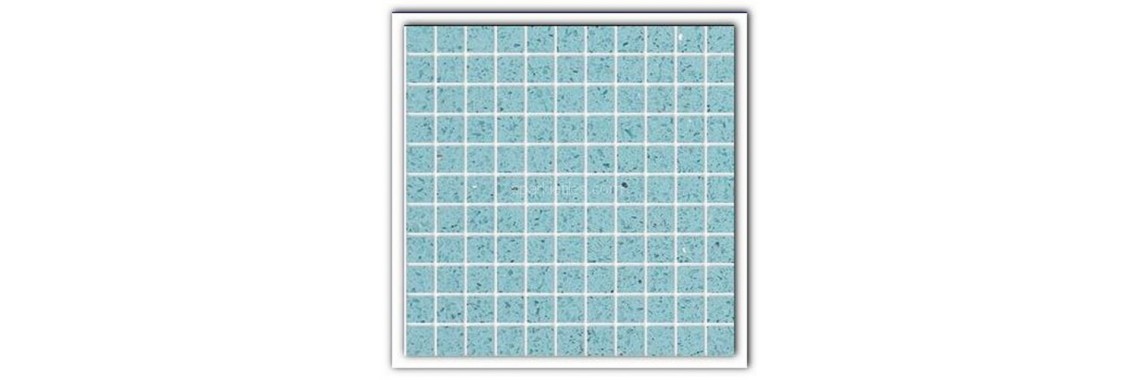 Aquamarine quartz stone tiles