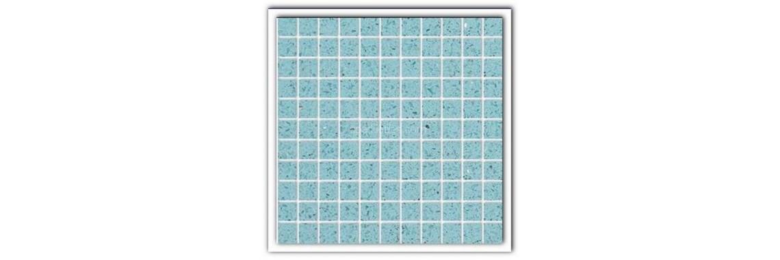 Aquamarine quartz stone tiles
