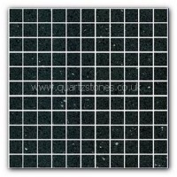 Gulfstone Quartz Black opal glitter tiles 2.5x2.5cm