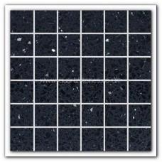 Gulfstone Quartz Black opal glitter tiles 4.7x4.7cm