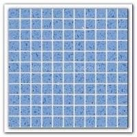 Gulfstone Quartz Classic blue glitter tiles 2.5x2.5cm