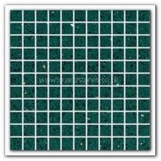 Gulfstone Quartz Emerald green glitter tiles 2.5x2.5cm