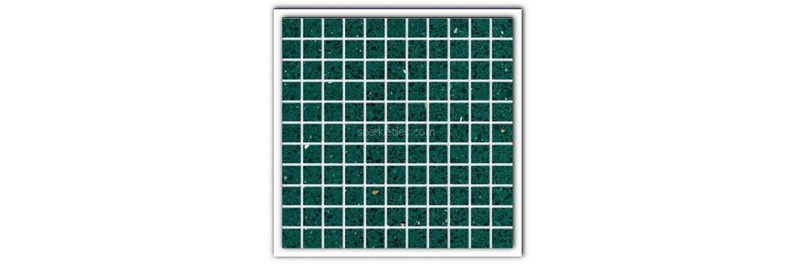 Emerald green sparkly tile
