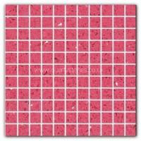 Gulfstone Quartz Jordan pink glitter tiles 2.5x2.5cm
