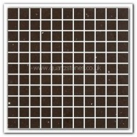 Gulfstone Quartz Mocha brown glitter tiles 2.5x2.5cm