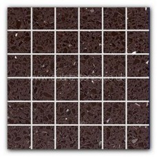 Gulfstone Quartz Mocha brown glitter tiles 4.7x4.7cm