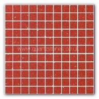 Gulfstone Quartz Rosso red glitter tiles 2.5x2.5cm