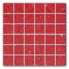 Gulfstone Quartz Rosso red glitter tiles 4.7x4.7cm
