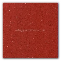 Gulfstone Quartz Ruby red glitter tiles 30x30cm