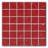 Gulfstone Quartz Ruby red glitter tiles 4.7x4.7cm