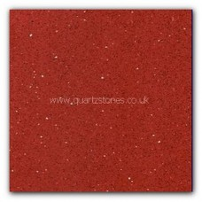 Gulfstone Quartz Ruby red glitter tiles 60x60cm