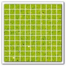 Gulfstone Quartz Salalah lime glitter tiles 2.5x2.5cm