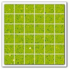 Gulfstone Quartz Salalah lime glitter tiles 4.7x4.7cm