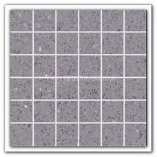 Gulfstone Quartz Silver grey glitter tiles 4.7x4.7cm