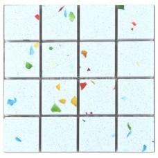 Gulfstone Quartz Tutti Frutti glitter tiles 2.5x2.5cm